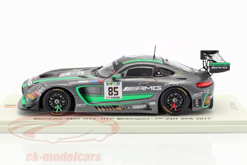 Mercedes-Benz AMG GT3 #85 24h Spa 2017 Sandström, Schiller, Baumann 1:43 Spark