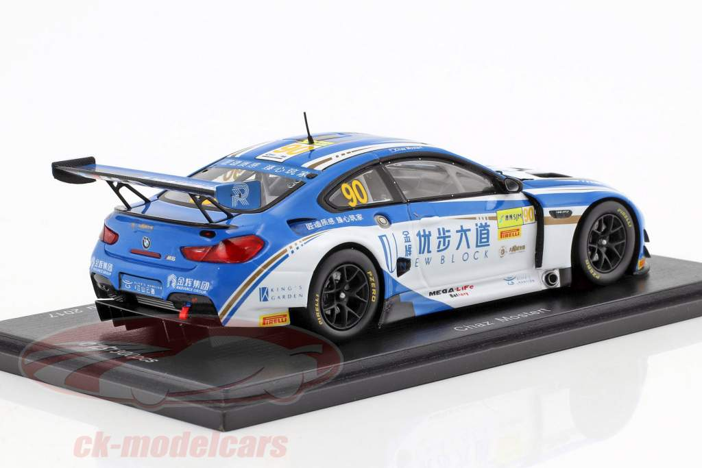 BMW M6 GT3 #90 5th FIA GT World Cup Macau 2017 Chaz Mostert 1:43 Spark