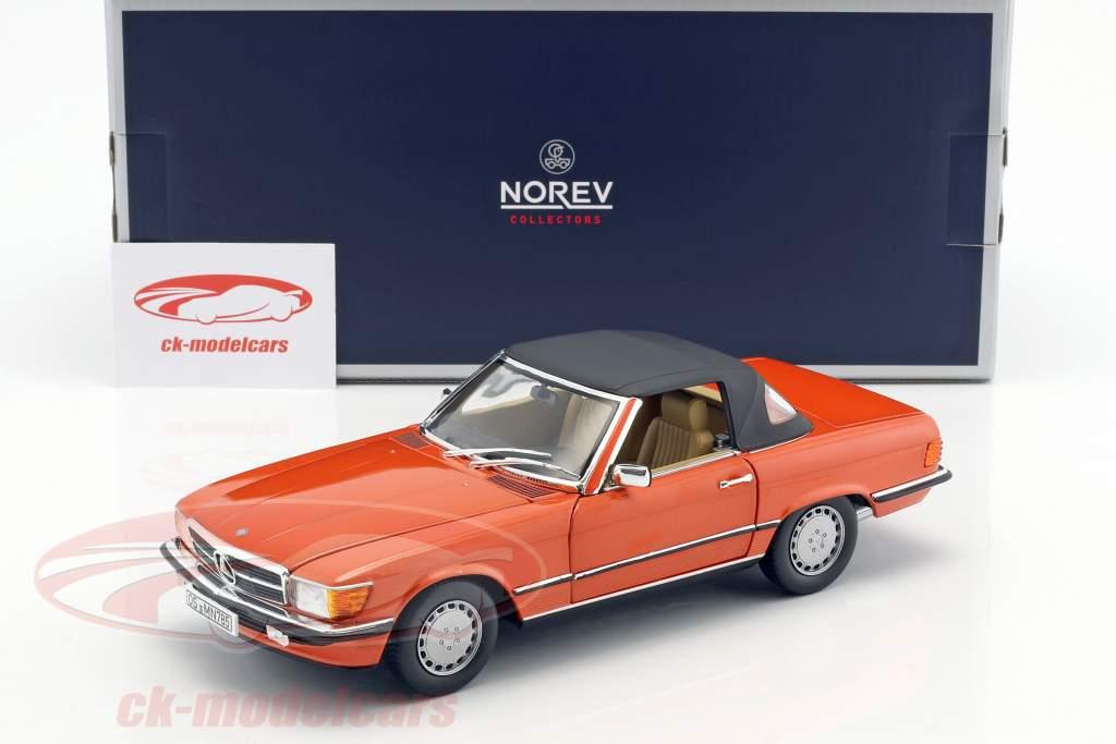 Mercedes-Benz 300 SL year 1986 orange 1:18 Norev