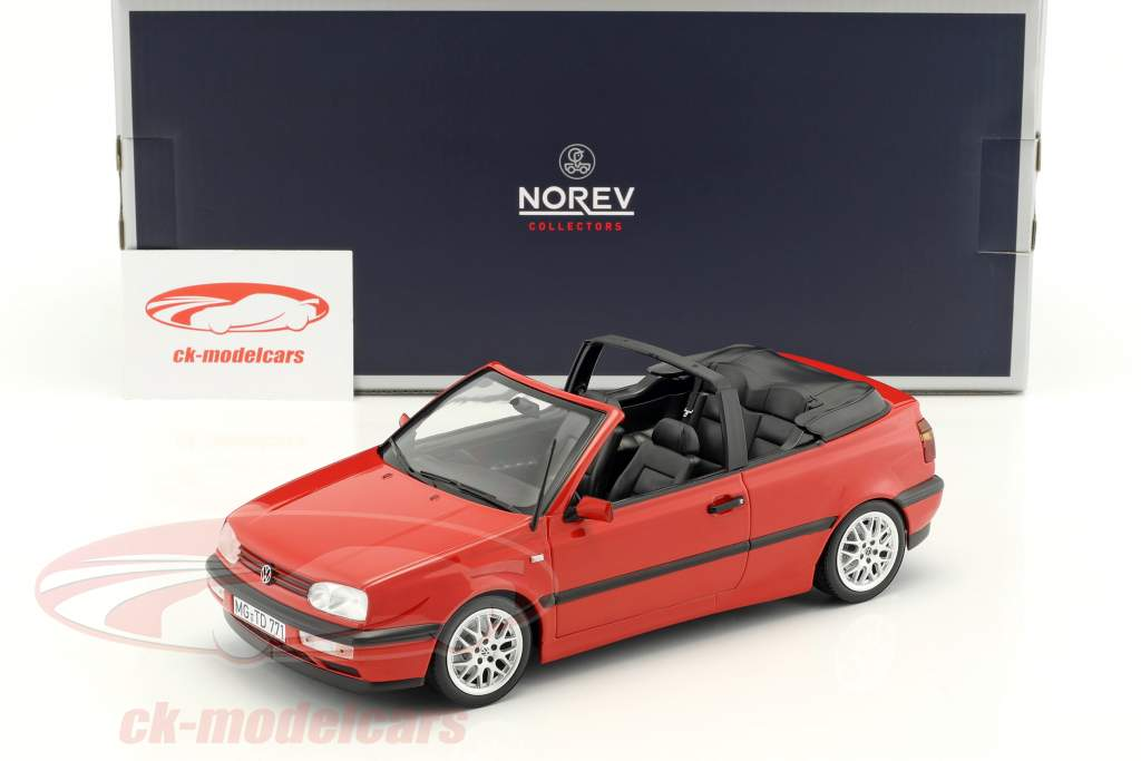 Volkswagen VW Golf Cabriolet year 1995 red 1:18 Norev