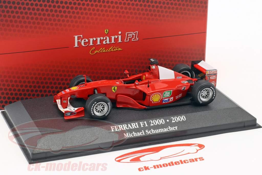 Michael Schumacher Ferrari F1-2000 #3 World Champion formula 1 2000 1:43 Atlas