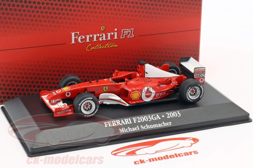 Michael Schumacher Ferrari F2003-GA #1 World Champion formula 1 2003 1:43 Atlas