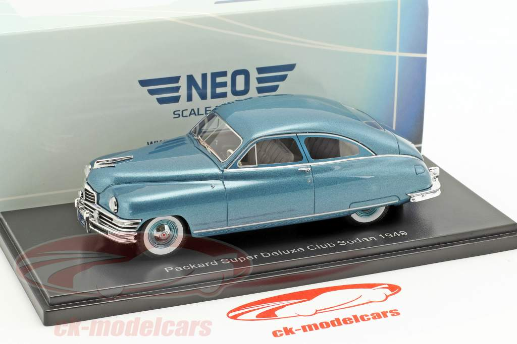 Packard Super Deluxe Club Sedan anno di costruzione 1949 turchese metallico 1:43 Neo