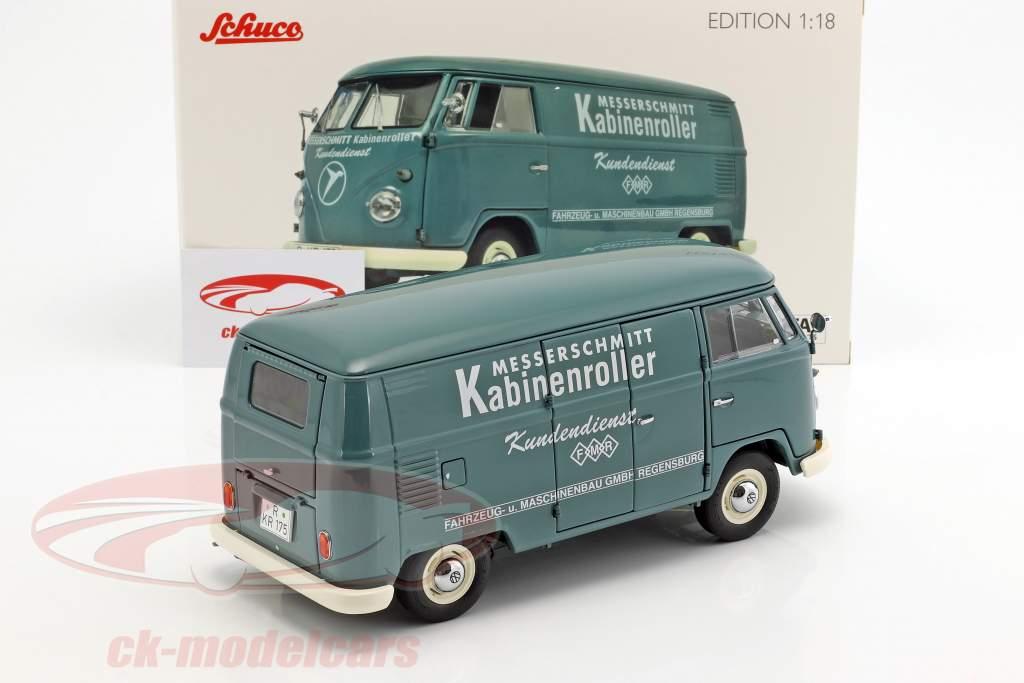 Volkswagen VW T1b Transporter Messerschmitt grün 1:18 Schuco