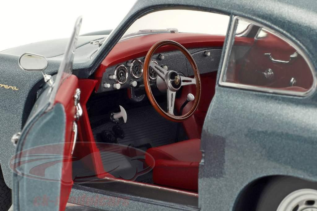 Porsche 356 A Carrera Coupe 70 ans Porsche bleu métallique 1:18 Schuco