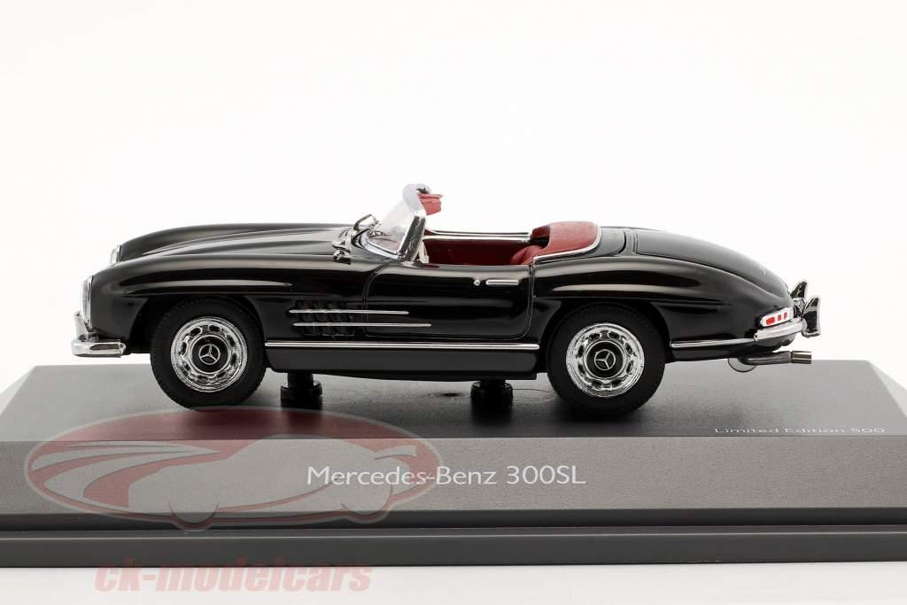 Mercedes-Benz 300 SL Roadster noir métallique 1:43 Schuco