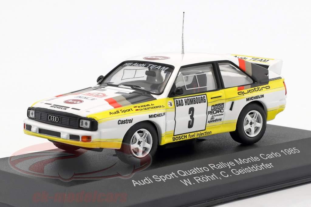 Audi Sport Quattro #3 2nd Rallye Monte Carlo 1985 Röhrl, Geistdörfer 1:43 CMR