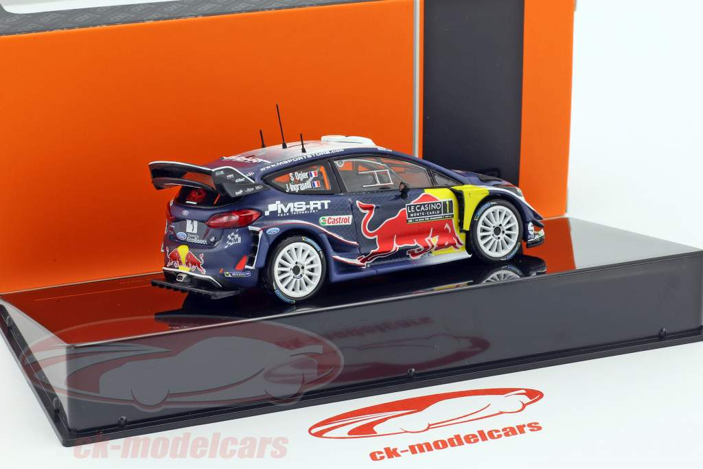 Ford Fiesta WRC #1 Vainqueur Monte Carlo Rally 2018 Ogier, Ingrassia 1:43 Ixo