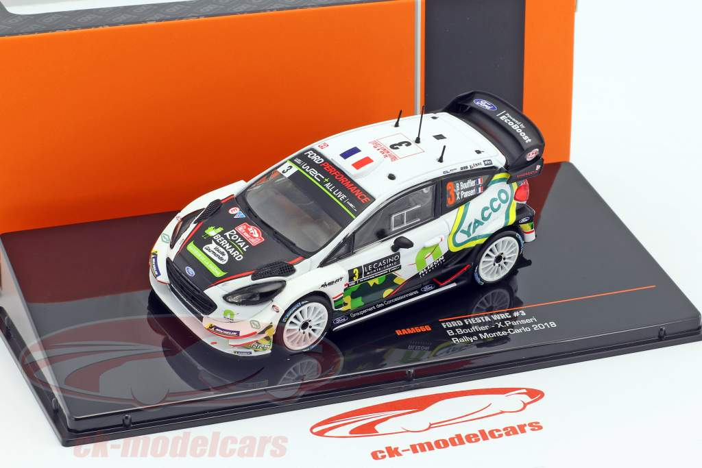 Ford Fiesta WRC #3 8 Rallye Monte Carlo 2018 Bouffier, Panseri 1:43 Ixo