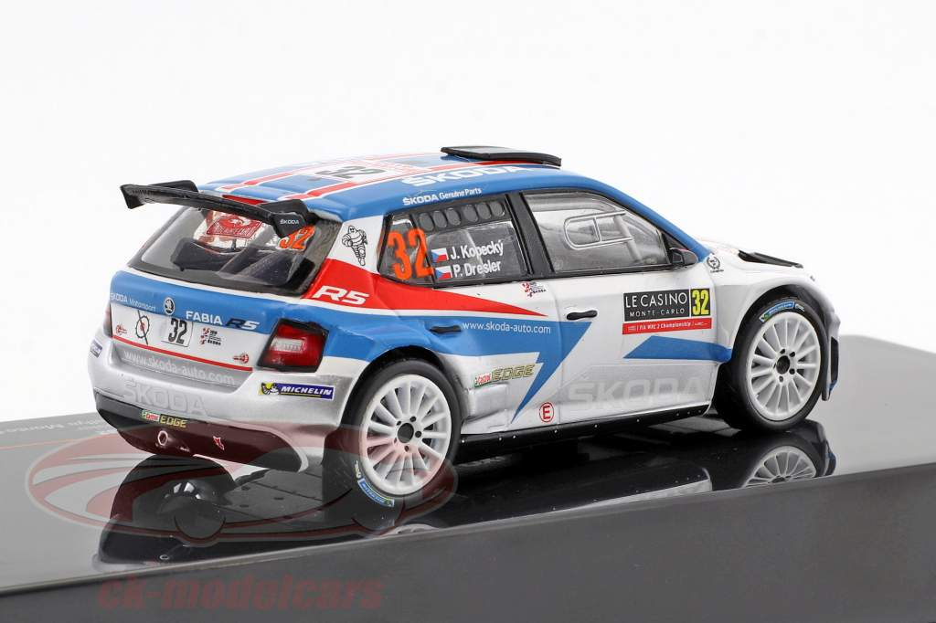 Skoda Fabia R5 #32 vincitore WRC2 Rallye Monte Carlo 2018 Kopecky, Dresler 1:43 Ixo