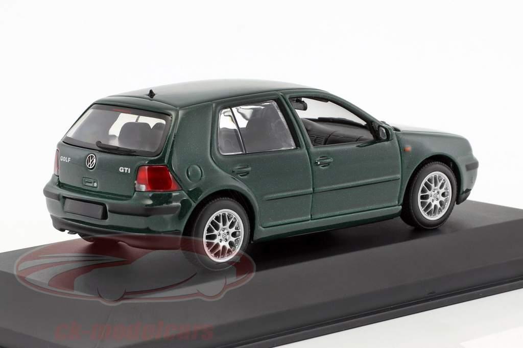 Volkswagen VW Golf IV 4 Generation Golf Baujahr 1997 dunkelgrün metallic 1:43 Minichamps Falsche UVP