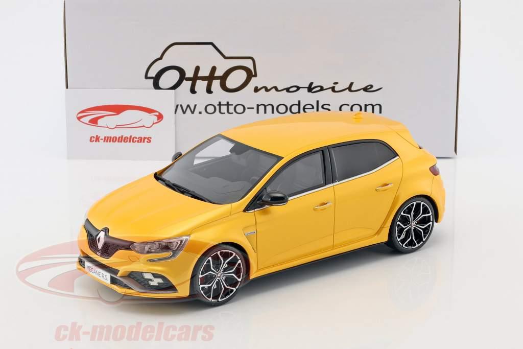 Renault Megane RS anno di costruzione 2017 giallo metallico 1:18 OttOmobile