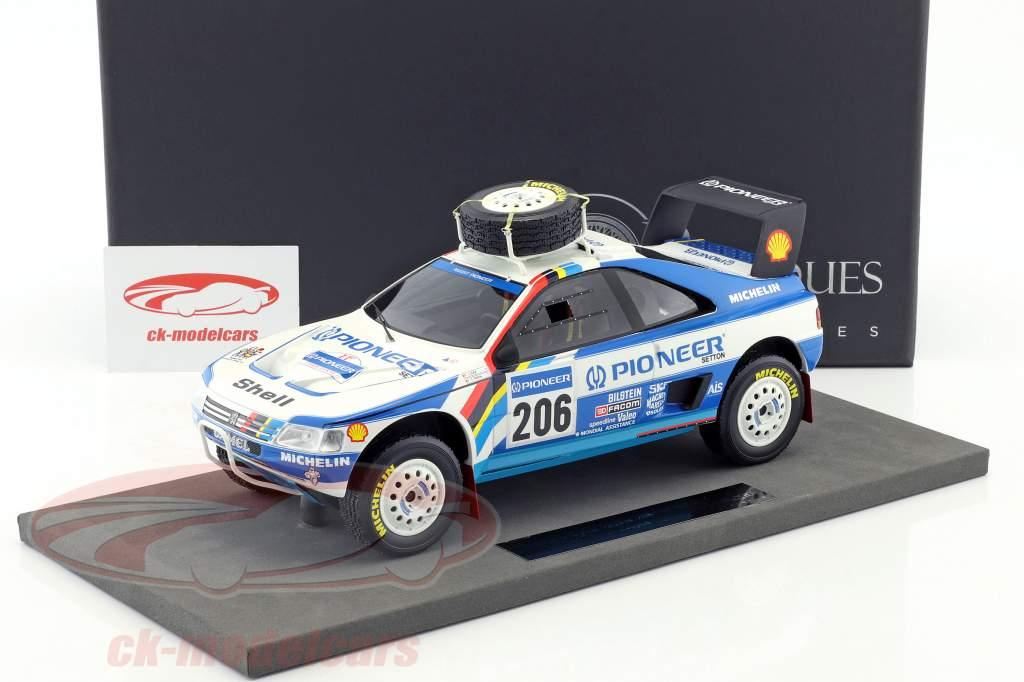Peugeot 405 T16 #206 2nd Rallye Paris - Dakar 1989 Ickx, Tarin 1:18 TopMarques