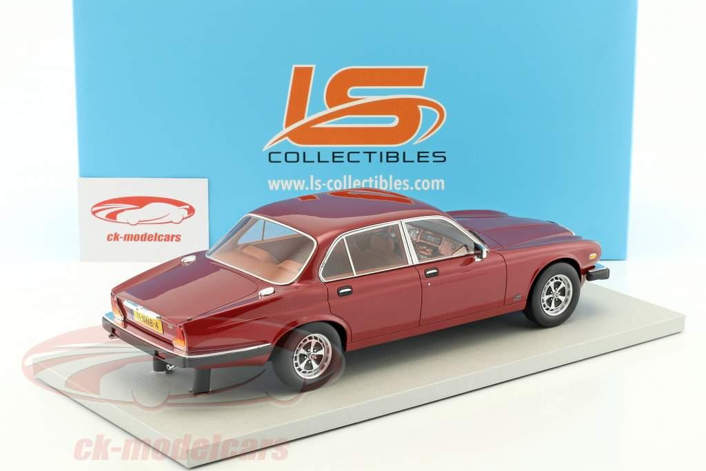 Jaguar XJ6 year 1982 red metallic 1:18 LS Collectibles