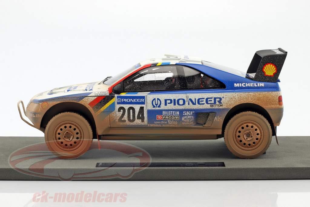 Peugeot 405 T16 Dirty Version #204 vincitore Paris - Dakar 1989 Vatanen, Berglund 1:18 TopMarques