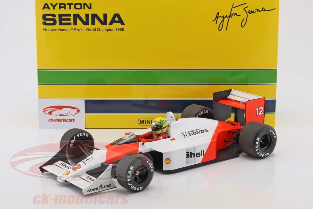Ayrton Senna McLaren MP4/4 #12 World Champion Formel 1 1988 1:12 Minichamps