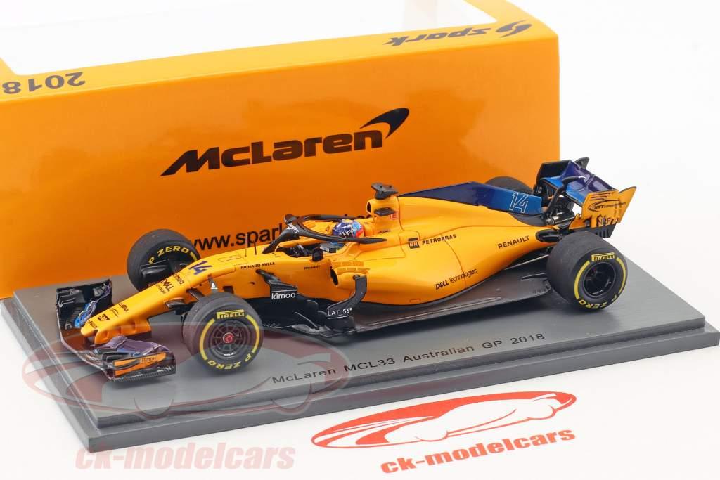 Fernando Alonso McLaren MCL33 #14 Australia GP formula 1 2018 1:43 Spark