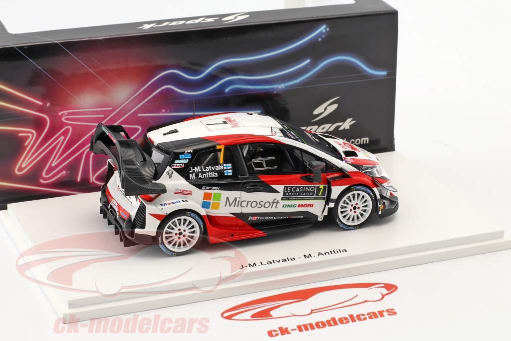 Toyota Yaris WRC #7 3rd Rallye Monte Carlo 2018 Latvala, Anttila 1:43 Spark