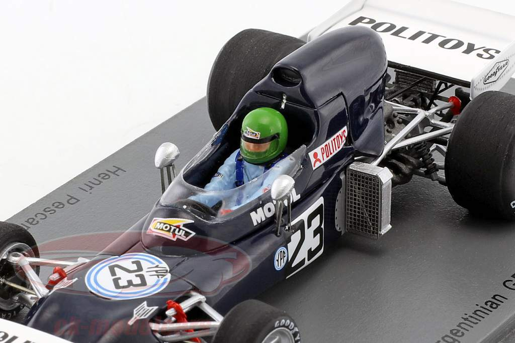Henri Pescarolo March 721 #23 Argentinien GP Formel 1 1972 1:43 Spark