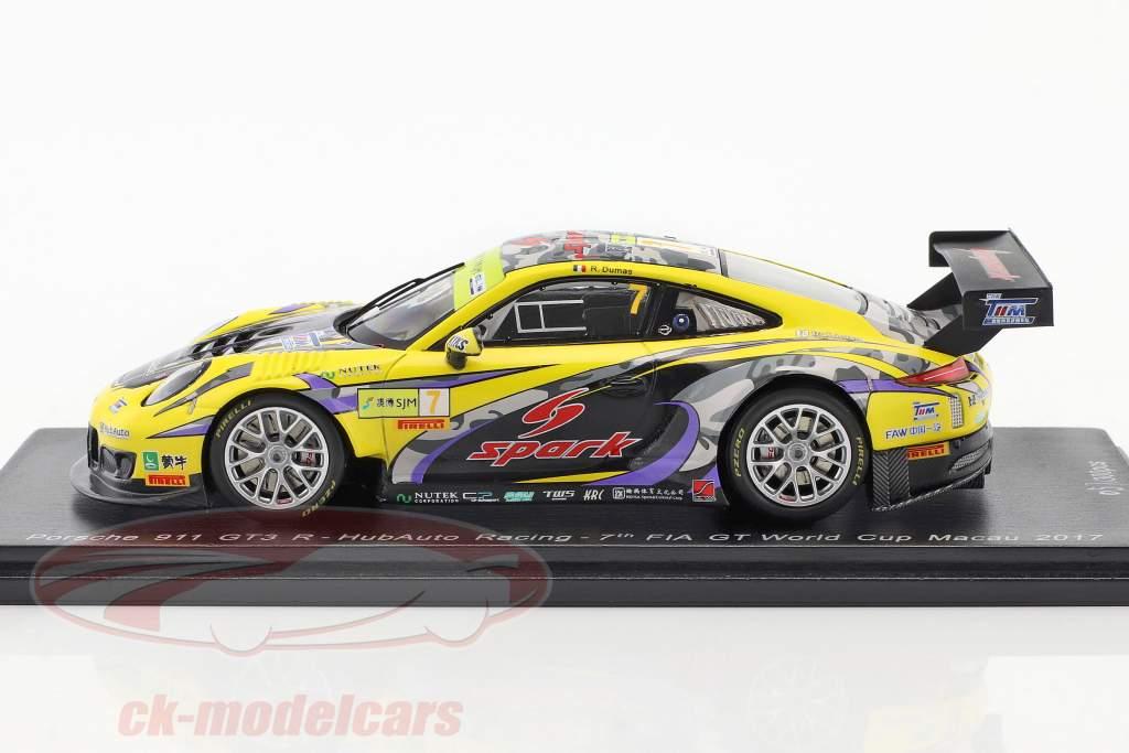 Porsche 911 GT3 R #7 7th FIA GT Cup Macau 2017 Romain Dumas 1:43 Spark