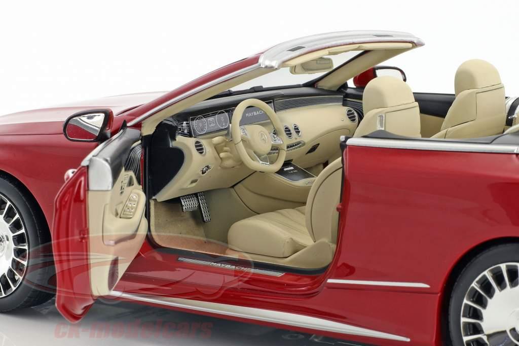 Mercedes-Benz Maybach S 650 Cabriolet mit abnehmbarem Dach designo zirkonrot 1:18 Norev