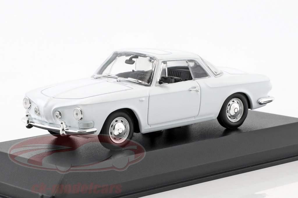 Volkswagen VW Karmann Ghia 1500/1600 Construction year 1961-1969 White 1:43 Minichamps / false overpack