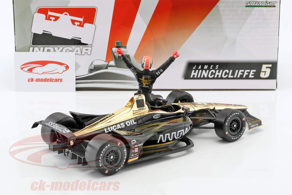 James Hinchcliffe Honda #5 IndyCar Series 2018 with figure 1:18 Greenlight
