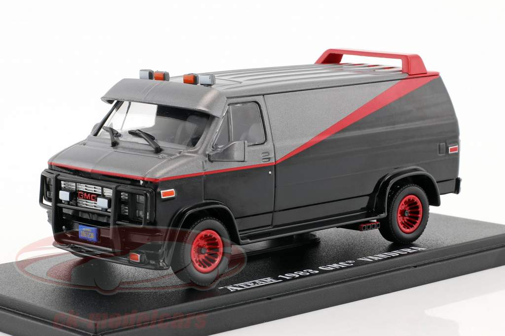 B.A.'s GMC Vandura year 1983 TV series The A-Team (1983-87) black / red / Gray 1:43 Greenlight