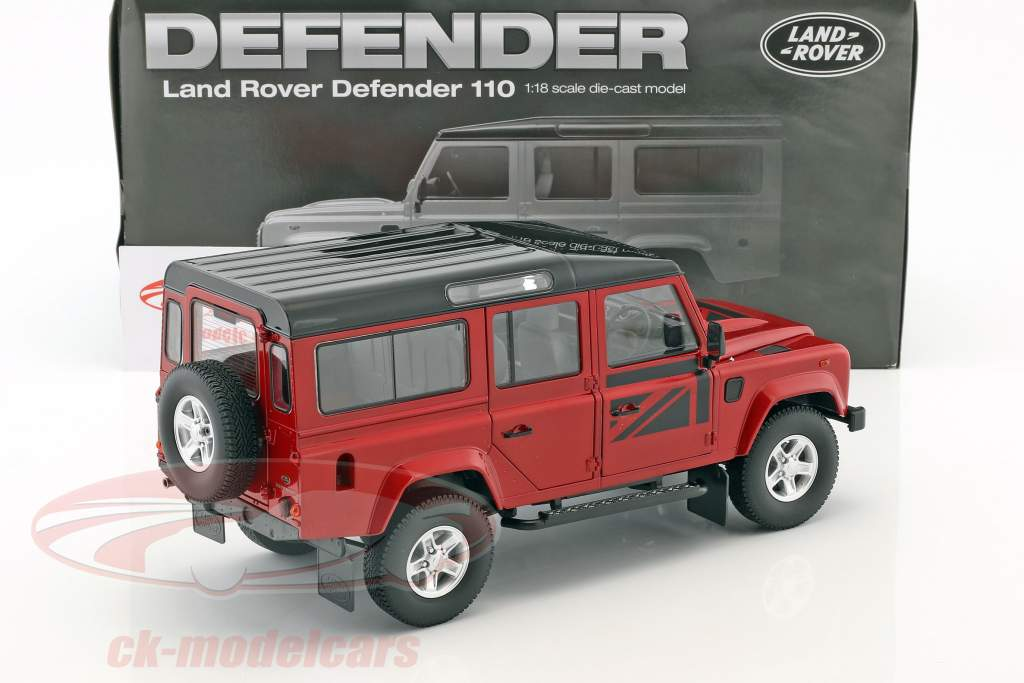 Land Rover Defender 110 RHD year 1983 red 1:18 Dorlop