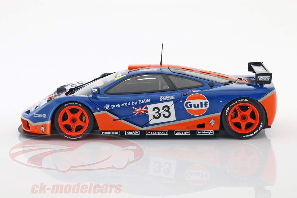 McLaren F1 GTR Gulf Racing #33 9th 24h LeMans 1996 Bellm, Lehto, Weaver 1:18 Minichamps