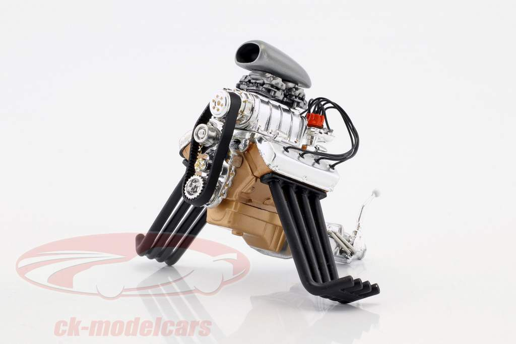 Blown Altered Drag Engine and transmission (from GMP18880) 1:18 GMP