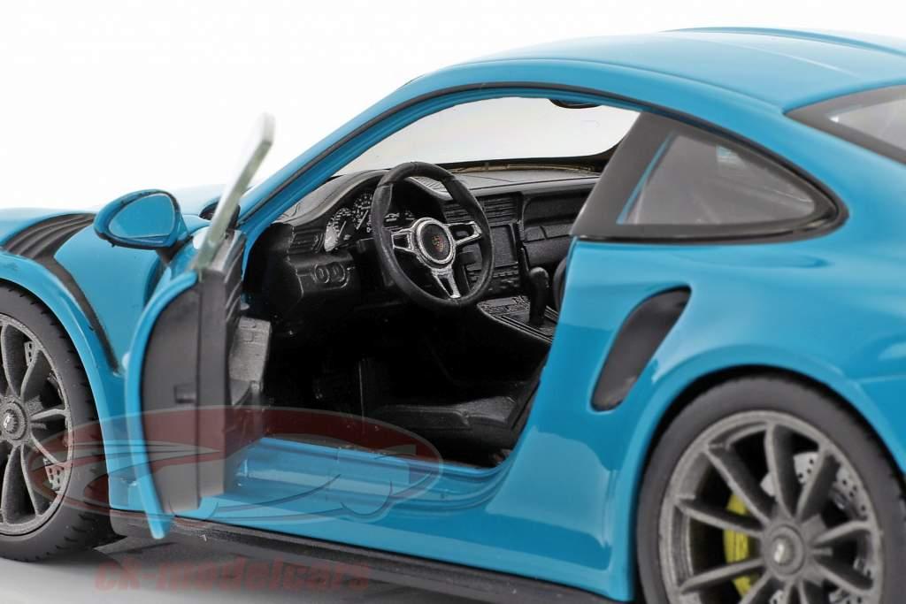 Porsche 911 (991) GT3 RS year 2016 miami blue 1:24 Welly