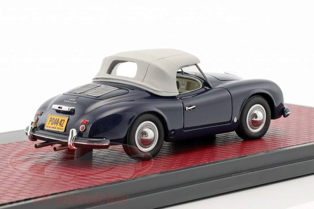 Porsche 356 America Roadster Closed Top Baujahr 1952 blau 1:43 Matrix