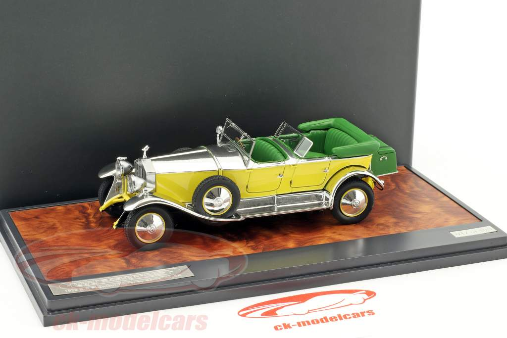 Rolls Royce Phantom 1 Tourer Barker Construction year 1929 yellow / silver / green 1:43 Matrix