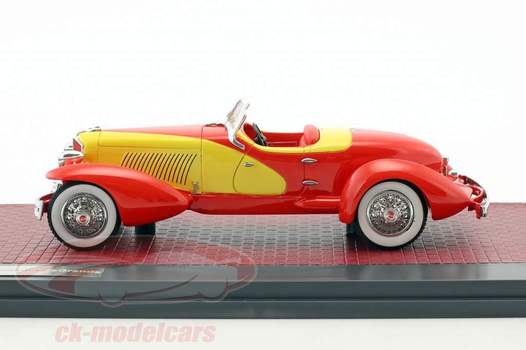 Cord L-29 Speedster LaGrande Baujahr 1931 rot / gelb 1:43 Matrix