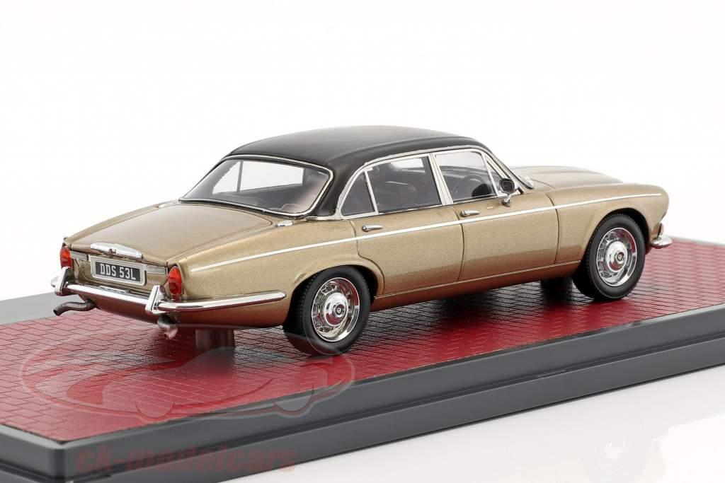 Daimler Double Six Vanden Plas S1 année de construction 1973 sable métallique 1:43 Matrix