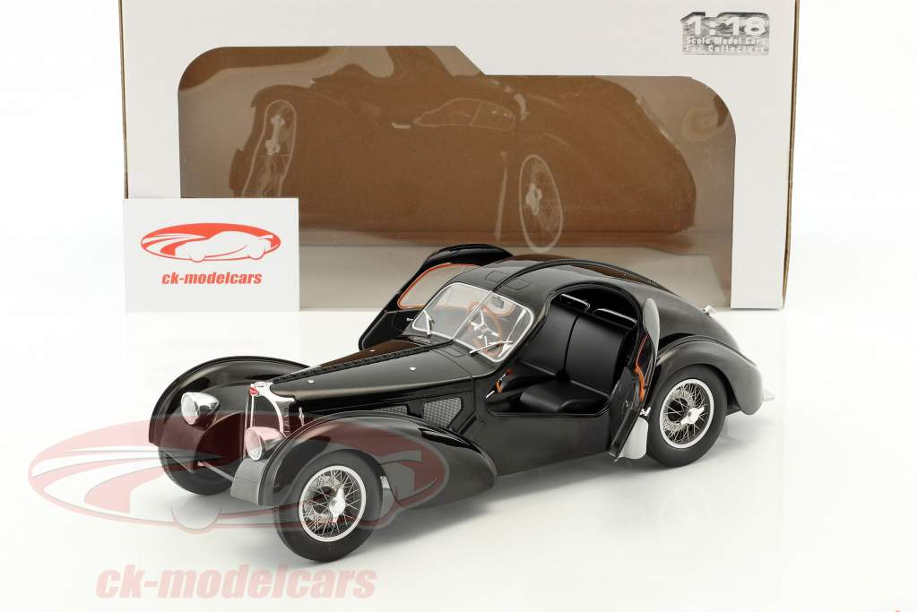 Bugatti Type 57 SC year 1938 black 1:18 Solido