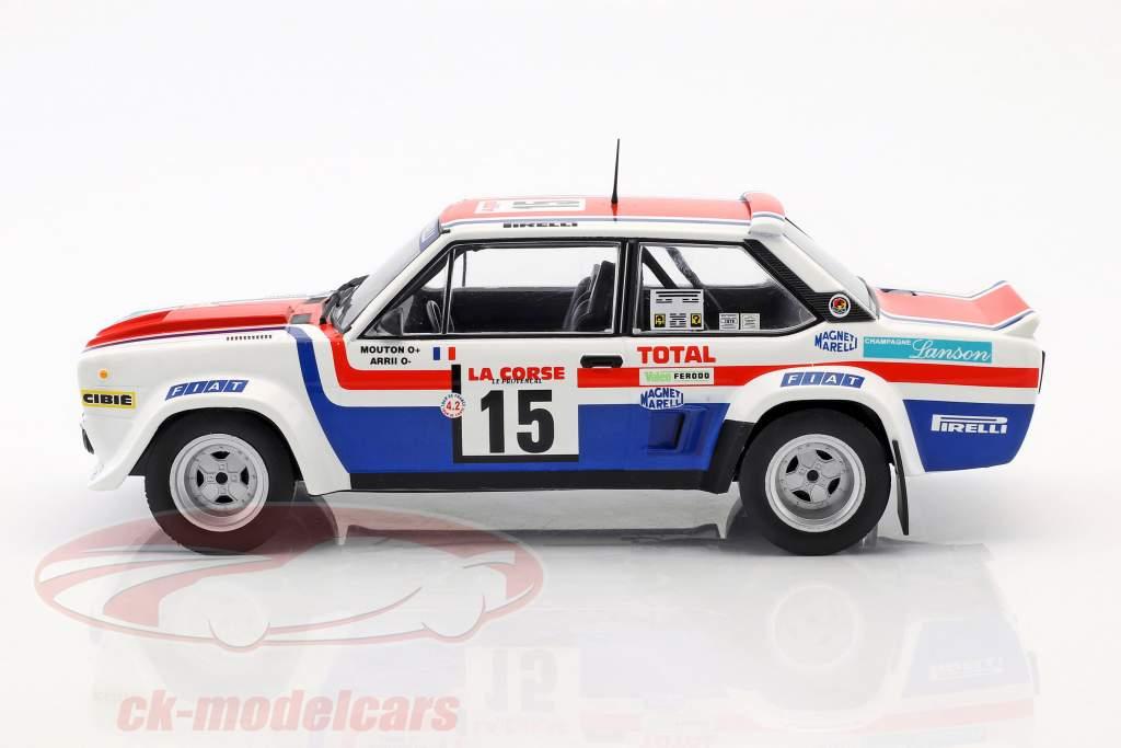 Fiat 131 Abarth #15 5th Tour de Corse 1980 Mouton, Arrii 1:18 Solido