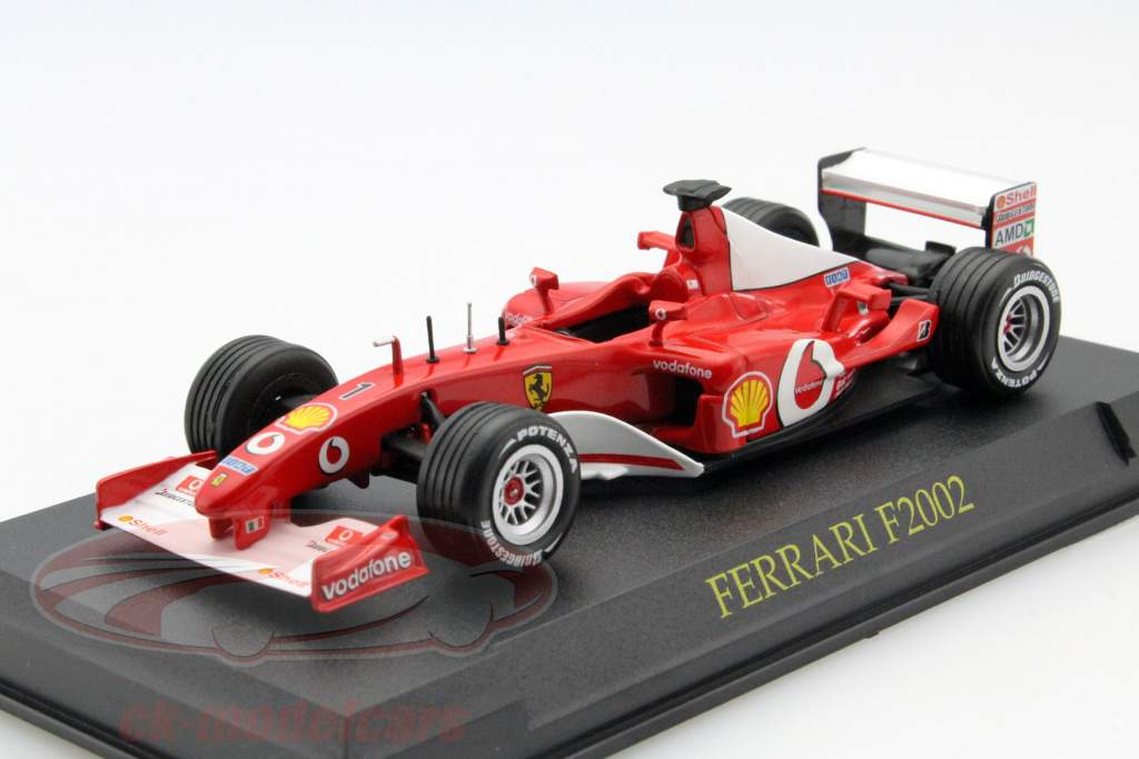 Ferrari 4-Car Set: Ferrari 360 Modena, California, FXX, F2002 each in Blister 1:43 Altaya