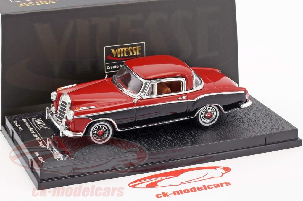 Mercedes-Benz 220 SE coupé année de construction 1958 rouge / noir 1:43 Vitesse