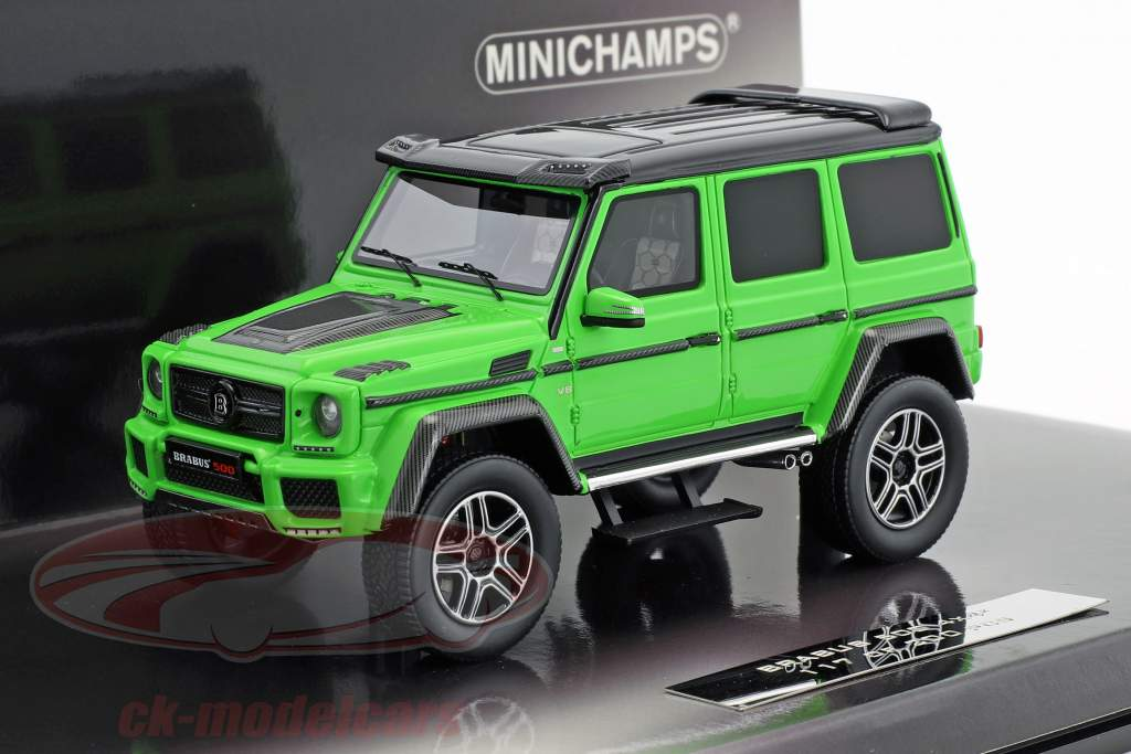Brabus 500 4x4² based on Mercedes-Benz G500 4x4² year 2016 green 1:43 Minichamps