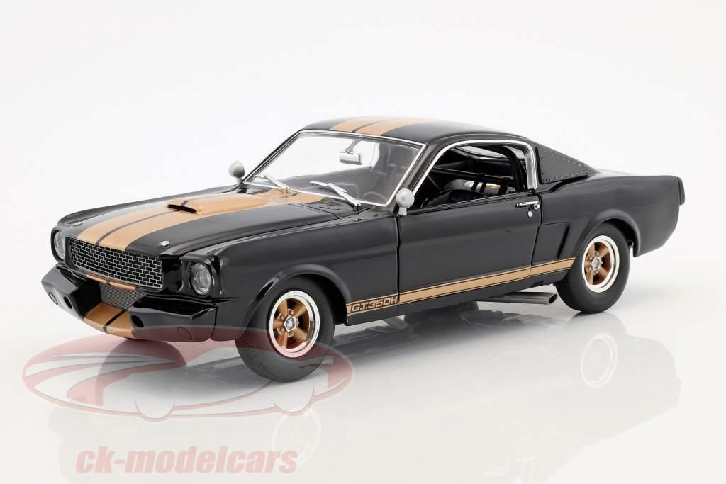 Ford Mustang Shelby GT350H year 1966 black with gold stripes 1:18 GMP