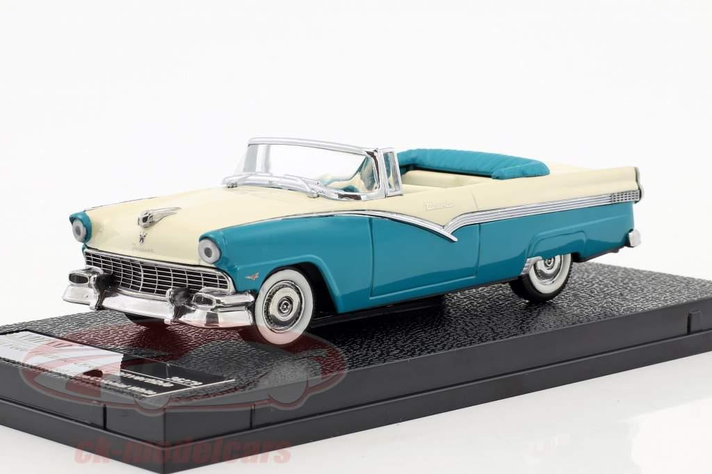 Ford Fairlane Open Convertible year 1956 blue / white 1:43 Vitesse