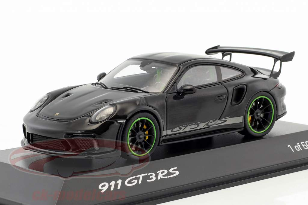 Porsche 911 (991) GT3 RS Weissach Package year 2018 black 1:43 Spark