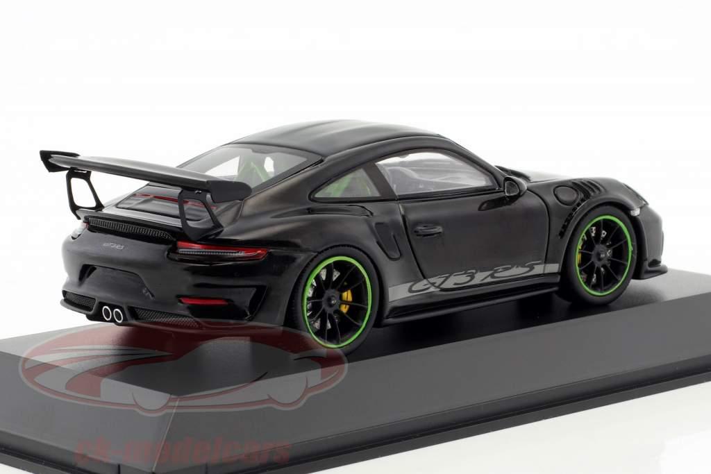 Porsche 911 (991) GT3 RS Weissach Package anno di costruzione 2018 nero 1:43 Spark