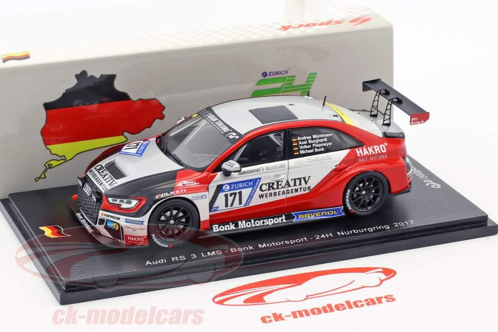 Audi RS 3 LMS #171 24h Nürburgring 2017 Bonk Motorsport 1:43 Spark