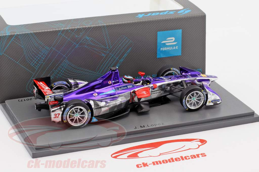 Jose Maria Lopez #37 2nd Paris ePrix Season 3 formula E 2016/17 1:43 Spark