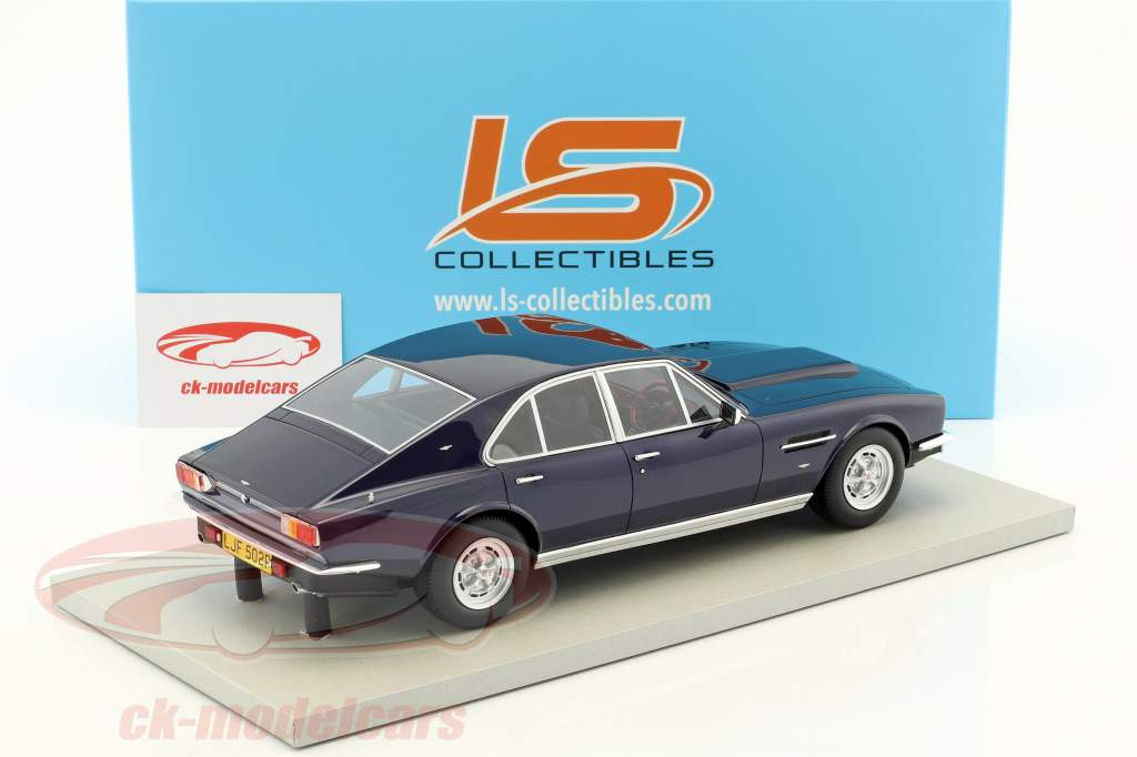 Aston Martin Lagonda year 1974 dark blue 1:18 LS Collectibles