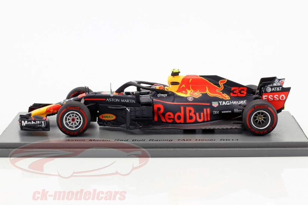 Max Verstappen Red Bull RB14 #33 6 australien GP formule 1 2018 1:43 Spark