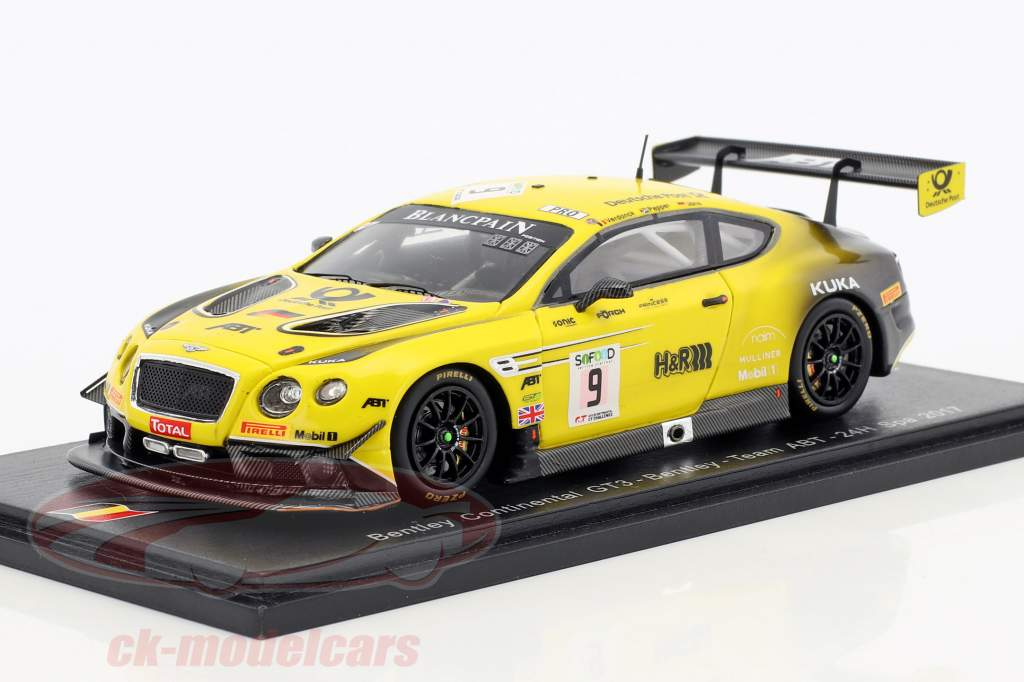 Bentley Continental GT3 #9 24h Spa 2017 Jöns, Pepper, Verdonck 1:43 Spark